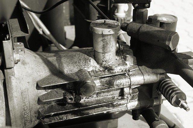 Motor de compresor en mal estado