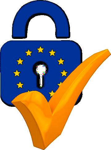 Logo de candado de privacidad