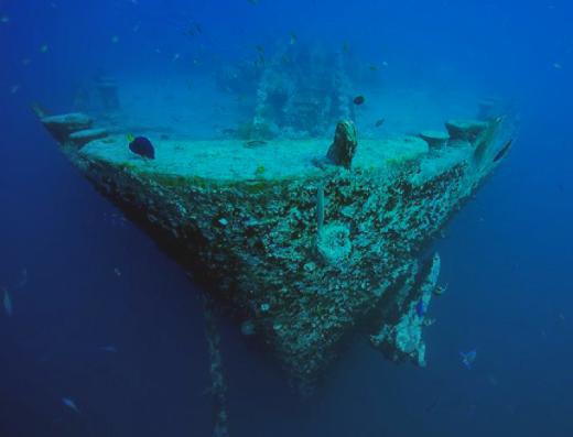 Naufragio en buceo profundo